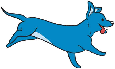 illustrated Running Weiner Dog
