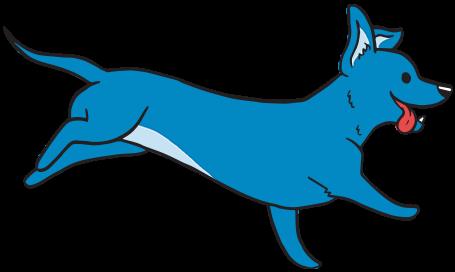 running dog illustration