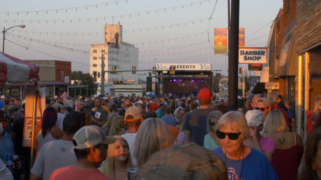 screenshot from the city of yukon video. yukon citizens at rock the route
