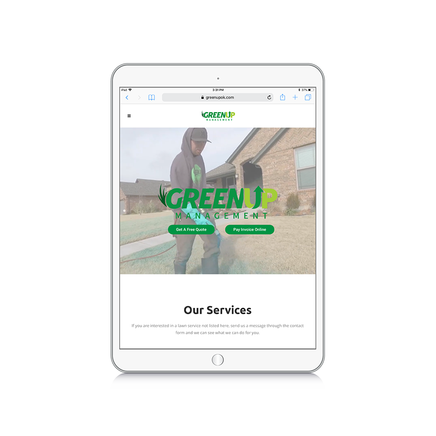 Green up ipad mockup