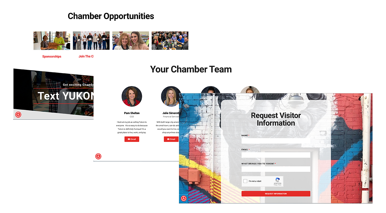yukon chamber website pages