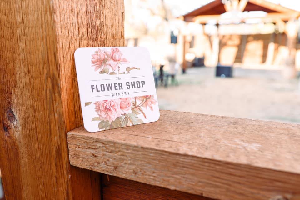 flower shop winery coaster