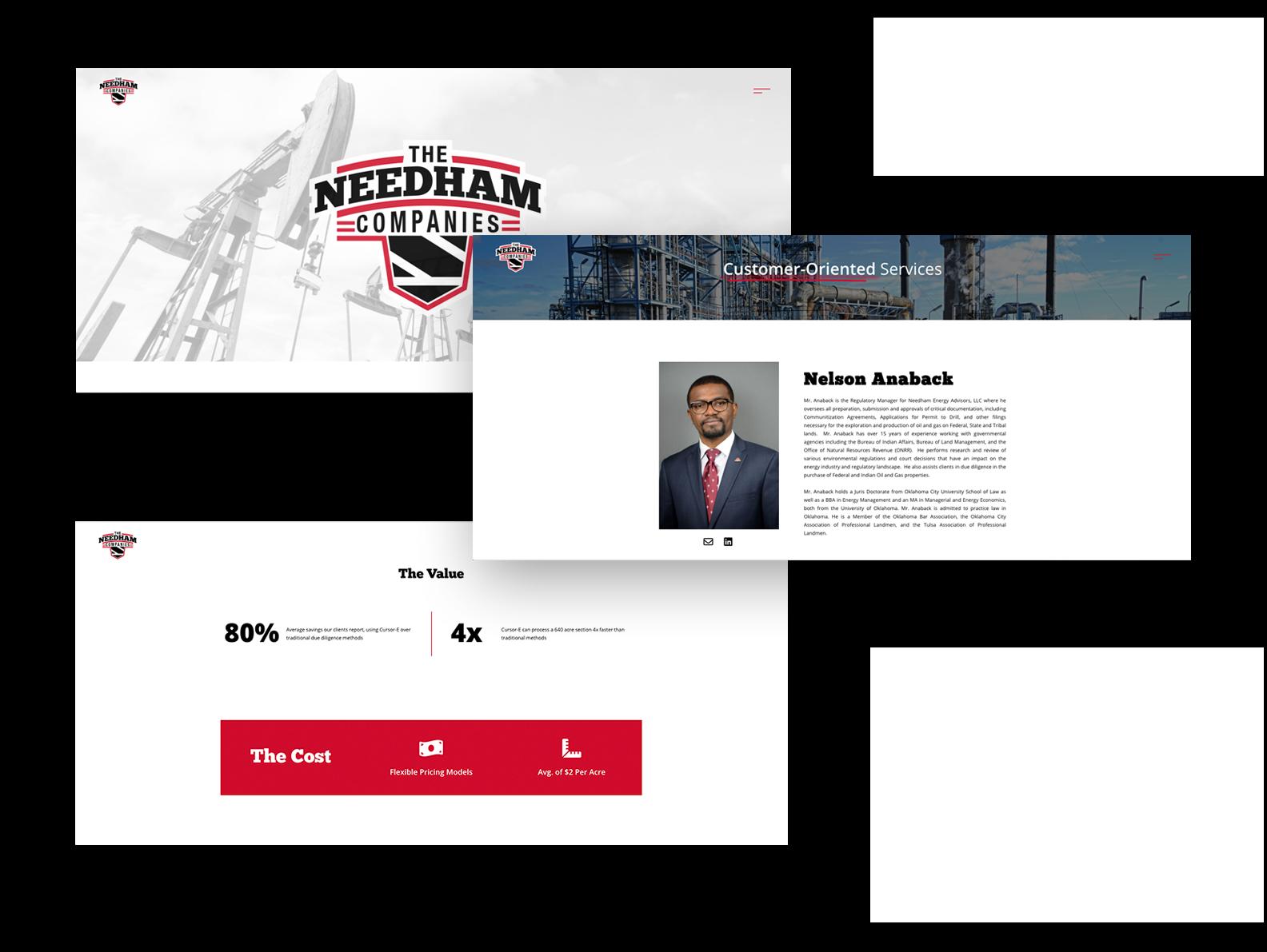 needham company website pages