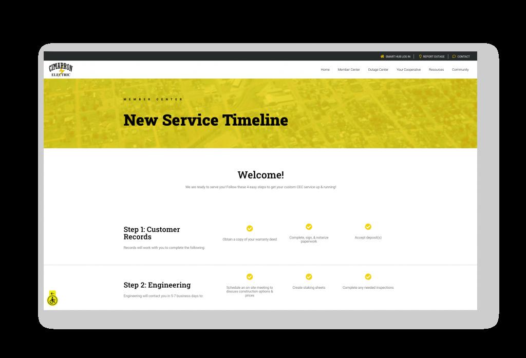 New Service timeline page