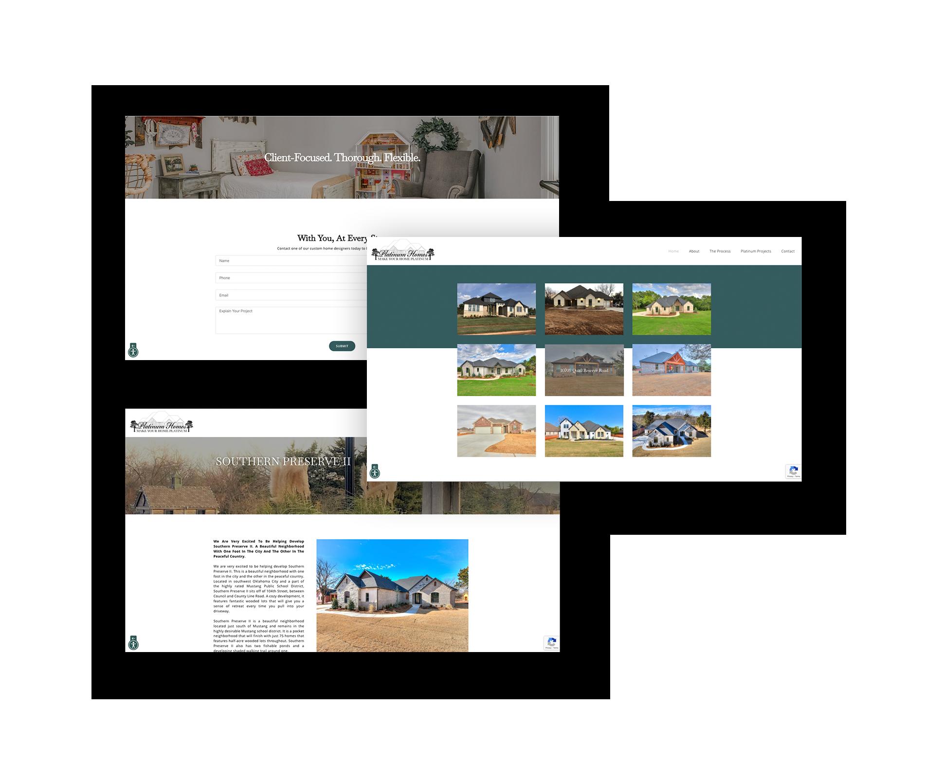 platinum homes web pages