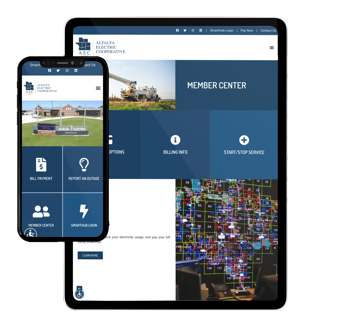 AEC Website on Mobile and Tablet